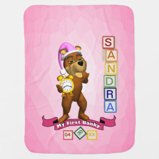6 Letter Name Version Customize It Babys 1st Banky Baby Blanket