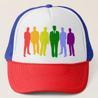 6 LGBT MEN (RAINBOW FLAG) Trucker Hat