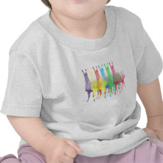 6 llamas 6 colors baby shirt