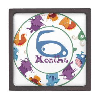 6 meses de jalón del monstruo cajas de recuerdo de calidad