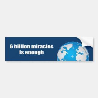 6 mil millones milagros son bastantes pegatina de parachoque