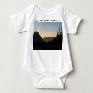 6 Mo. Baby Glacier National Park Sunrise Baby Bodysuit