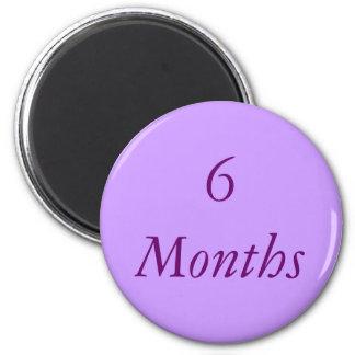 6 Month Chip Magnet