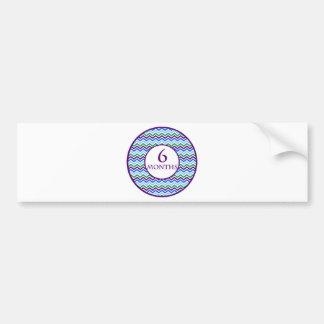 6 Months Chevron Milestone Bumper Sticker