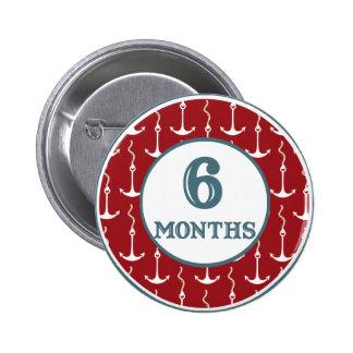 6 Months Coastal Milestone Pins