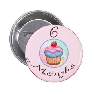 6 Months Cupcake Milestone Pins