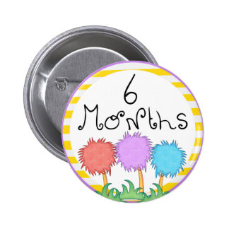6 Months Inspired Milestone Pinback Buttons