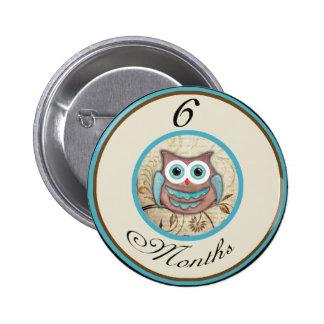 6 Months Owl Milestone Pins