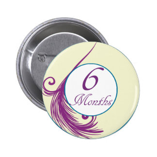 6 Months Peacock Milestone Buttons