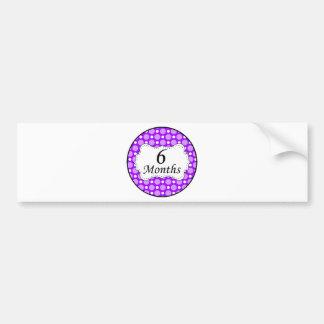 6 Months Polka Dot Milestone Bumper Sticker