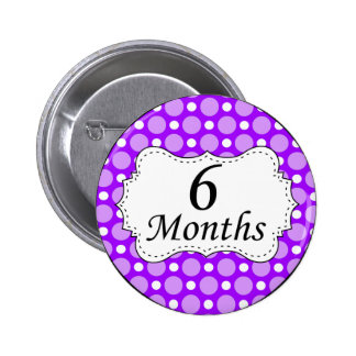 6 Months Polka Dot Milestone Pin
