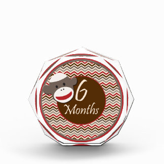 6 Months Sock Monkey Milestone Award