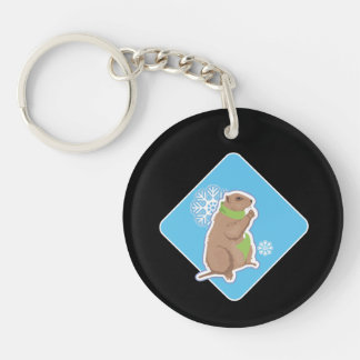 6 More Weeks Double-Sided Round Acrylic Keychain