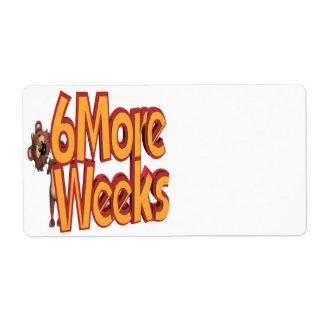 6 More Weeks Label
