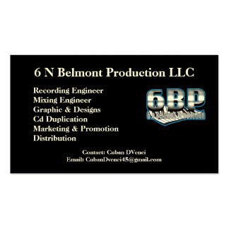 6 N Belmont Production Business Cards