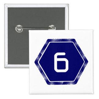 #6 Navy Tek 2 Inch Square Button