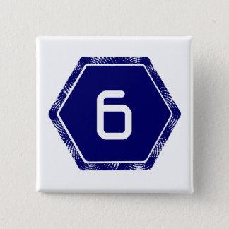 #6 Navy Tek Pinback Button