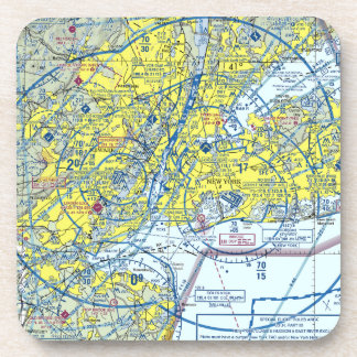 6 New York Airspace Coasters