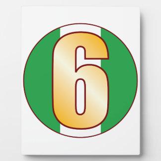 6 NIGERIA Gold Plaque