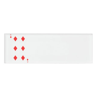 6 of Diamonds Name Tag