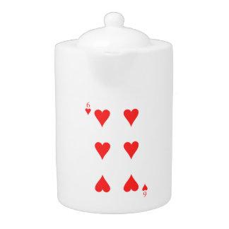 6 of Hearts Teapot