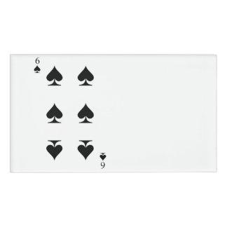 6 of Spades Name Tag