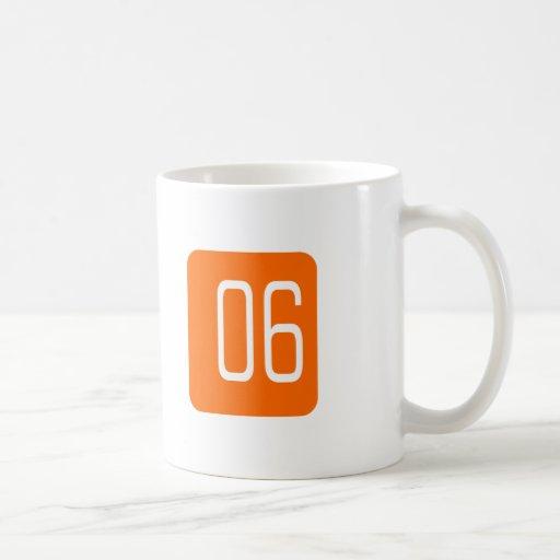 #6 Orange Square Coffee Mugs