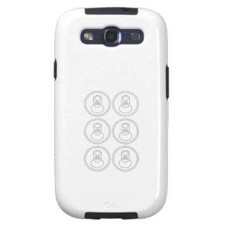 6 paquetes de ABS Galaxy SIII Protectores