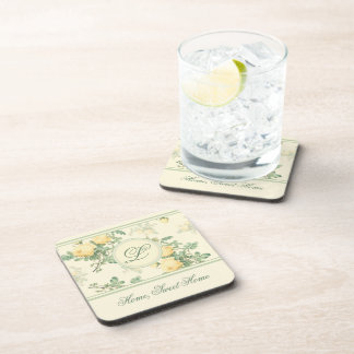 6 personalized coasters housewarming gift roses drink coaster