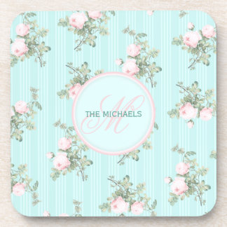 6 personalized coasters shabby chic decor gift