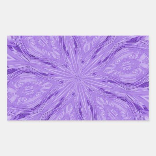 6 Petal Abstract Lavender Rectangular Sticker