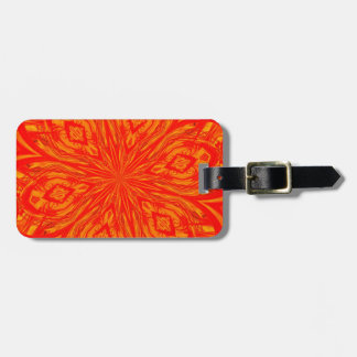 6 Petal Abstract Orange Crush Tag For Luggage