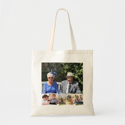 6 Photo Collage Custom Tote Bag