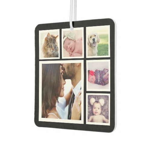 6 Photo Collage Personalized Air Freshener