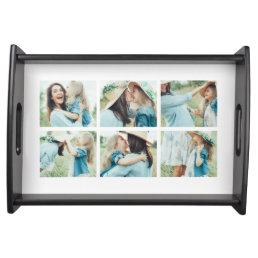 6 Photo Collage Serving Tray