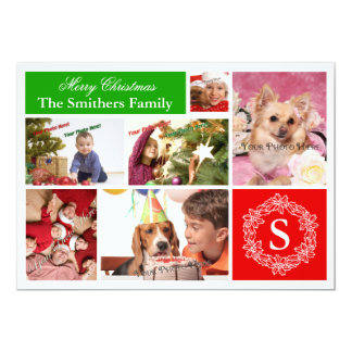 6 Photo Family Christmas Card