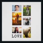 """6 Photo Frame Collage Poster<br><div class=""""desc"""">6 photos in varying orientation,  customize &quot;Love&quot; to any short word or abbreviation.</div>"""