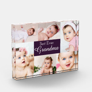 6 Photo Template Personalized Best Ever Collage Photo Block