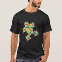 6  pixel puzzles autism T-Shirt