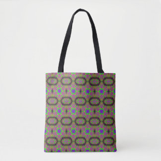 6-point blue  star hippie groovy tote bag