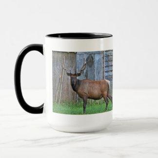 6 Point Bull Elk Photo Mug