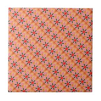 6-point red stars tile