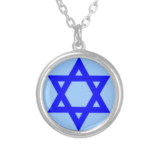 6-point star round pendant necklace