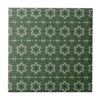 6-point stars on green tile