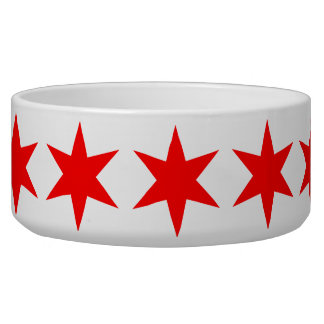 6-Pointed Chicago Flag Red Star Bowl