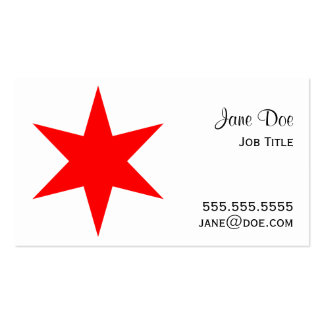 6-Pointed Chicago Flag Red Star Business Card