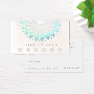 6 Punch Customer Loyalty Massage Spa Lotus Business Card