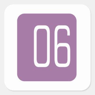 #6 Purple Square Square Sticker