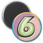 6 REFRIGERATOR MAGNETS
