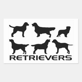 6 retrievers rectangular sticker